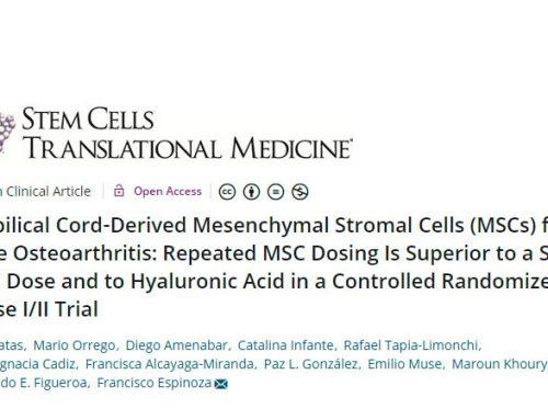 Cells for Cells publica el primer ensayo clínico de terapia celular con resultados positivos para el tratamiento de la artrosis